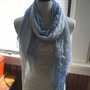 Beautiful blue and white scarf